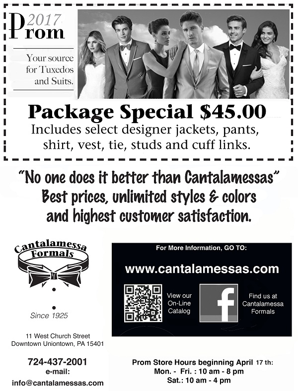 2017 Prom Package Special at Cantalamessa's
