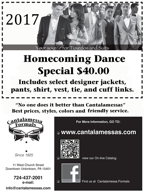 2017 Homecoming / Fall Dance Special at Cantalamessa's