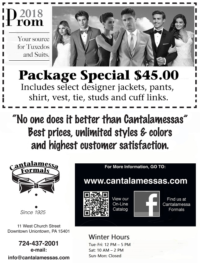2018 Prom Package Special at Cantalamessa's