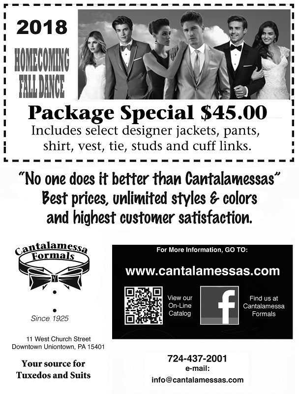 2018 Homecoming Package Special at Cantalamessa's