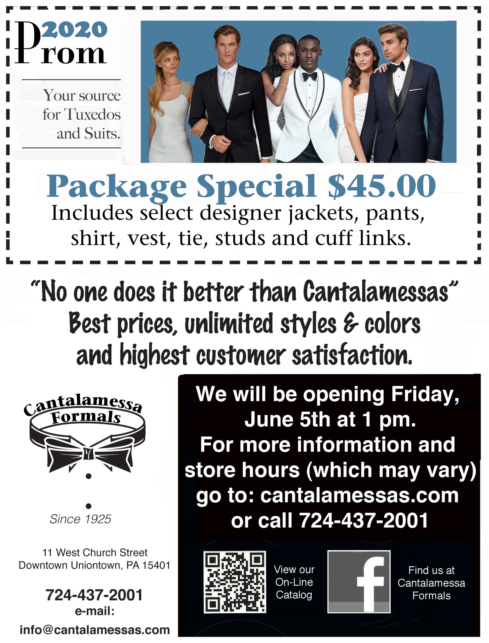 2020 Summer Prom Special at Cantalamessa's